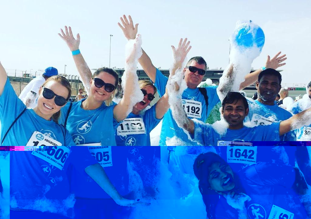 Big Bubble Run Dubai 2016 PRO Partner Group UAE