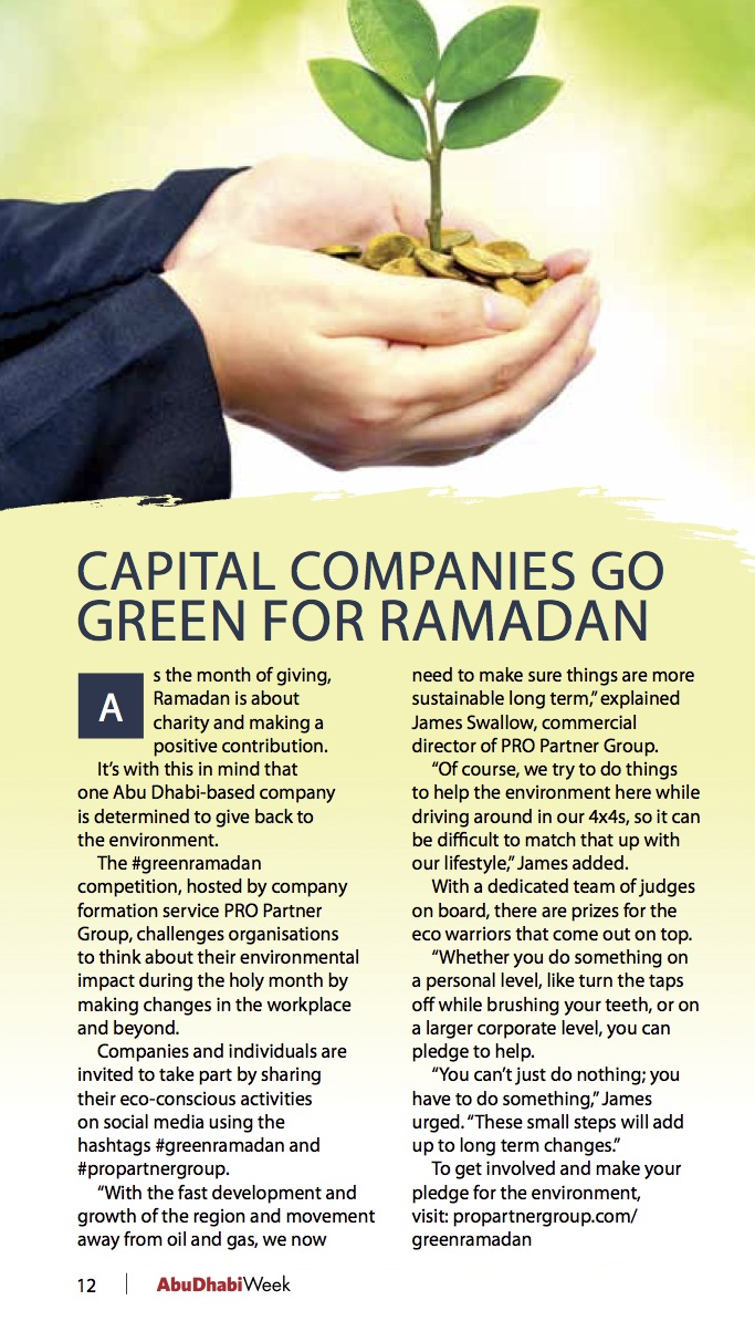 PRO Partner Group Capital Companies Go Green Ramadan
