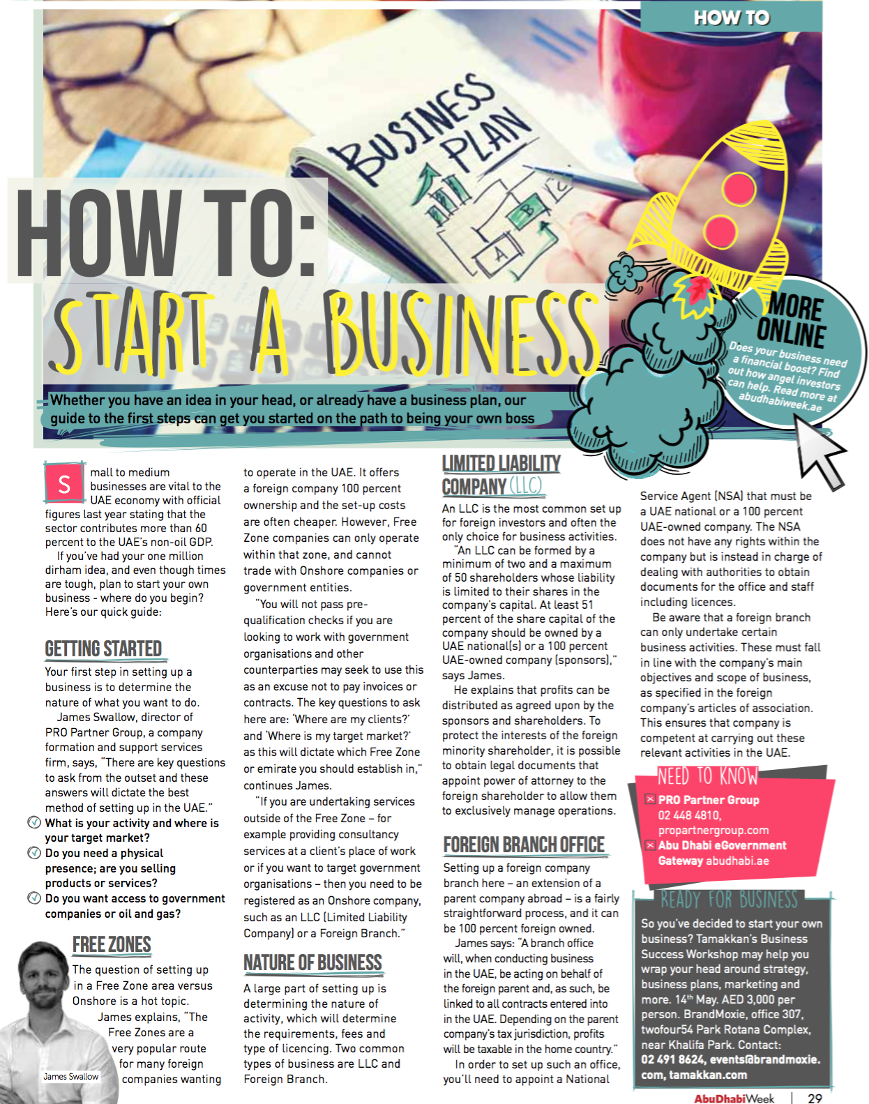 how to start a business in Abu dhabi 2016