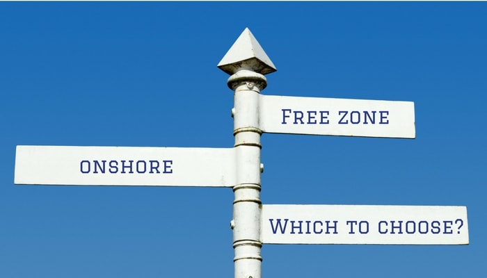 Free zone or onshore which is best for business in the UAE, Dubai, Abu Dhabi