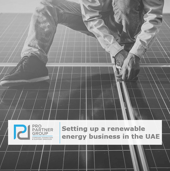 Setting up a renewable energy business in Abu Dhabi Dubai UAE