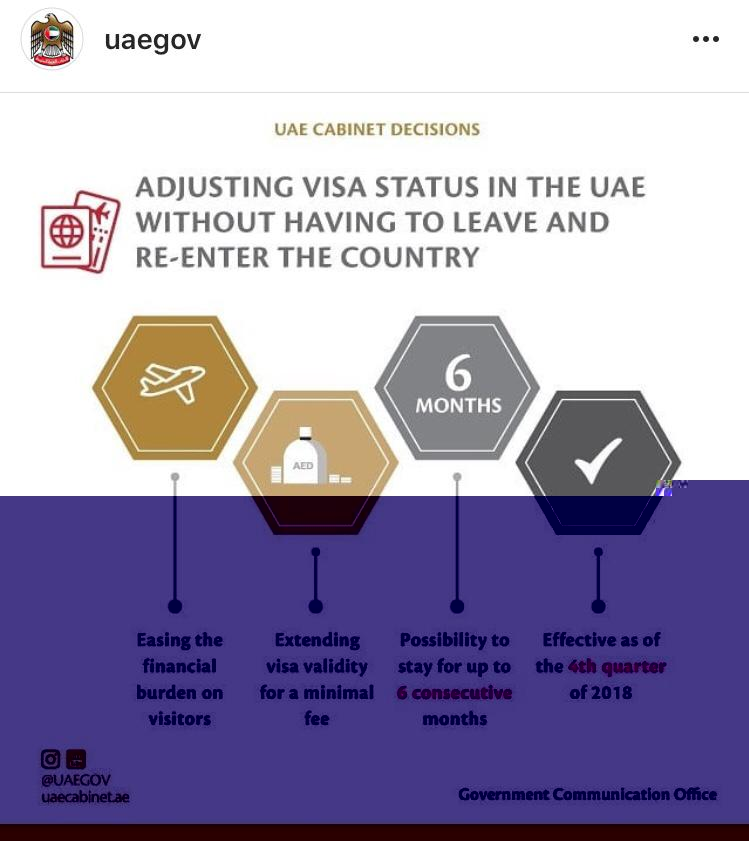 Adjusting visa status in the uae without having to leave