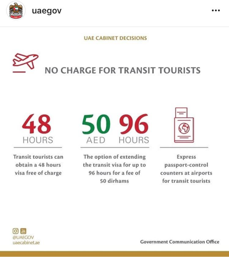 No charge for transit tourists