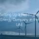 Start a Renewable Energy in the UAE Dubai Abu Dhabi